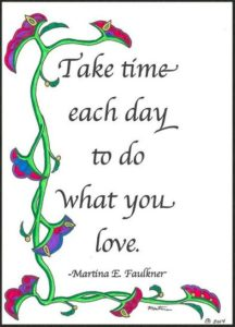 take time - small