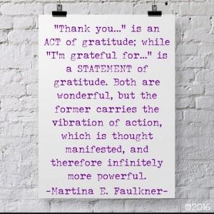 gratitude as act