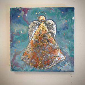 Angel Wax Painting