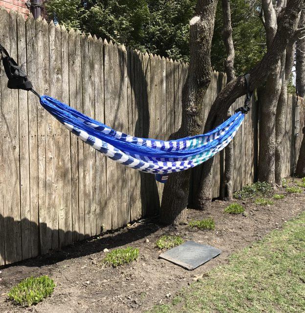 blue-striped hammock