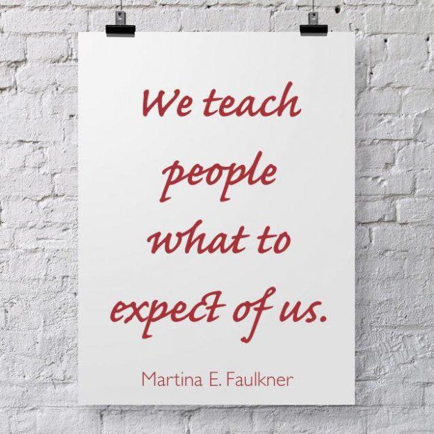 We teach expectations
